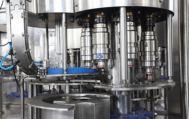 Capping heads of water bottling machine