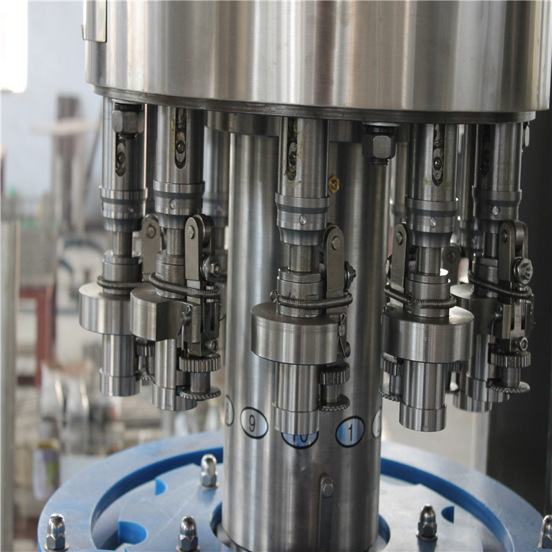 Automatic 3 in 1 Glass Bottle Water Washing Filling Capping Machine For Negative pressure Drinking Water machine