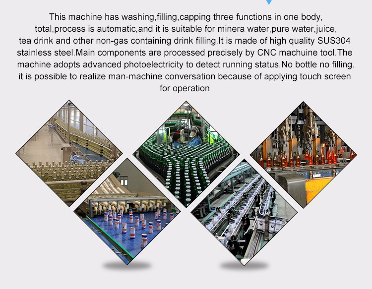 PET Water bottle filling machinery equipment