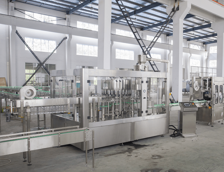 china supplier making beverage washing filling puting cap's machine /bottle water line