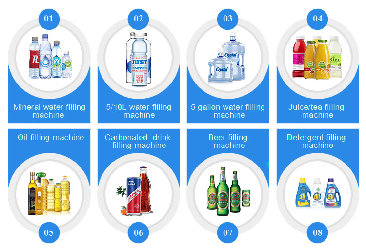 Carbonated drinking water soft drink Cola Filling Machine for production line